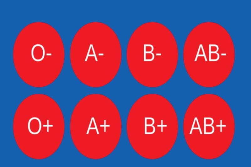 Các nhóm máu phổ biến